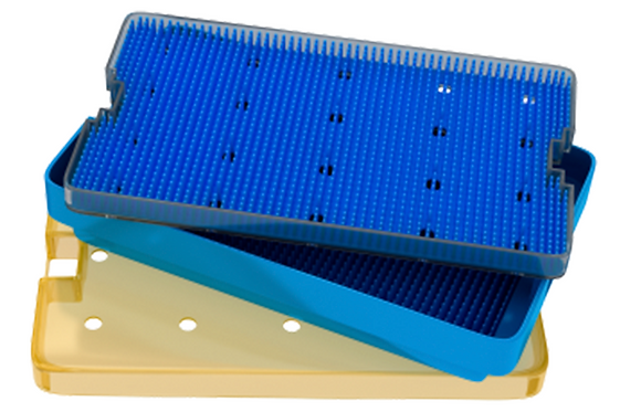 18-305. Sterilizing Tray With Silicone Finger Mat