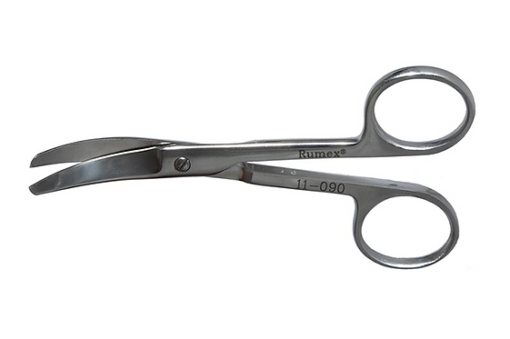 11-090 Curved Enucleation Scissors