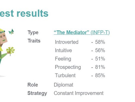 Analyzing my Myers-Briggs personality test