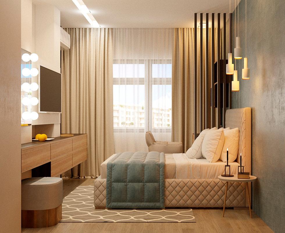 спальня  дизайн интерьера архитектор Юлия Анатольевна Журавель Днепр