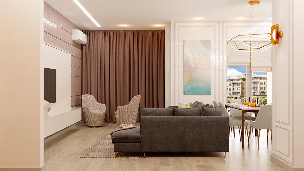 гостиная 11  дизайн интерьера архитектор Юлия Анатольевна Журавель Днепр