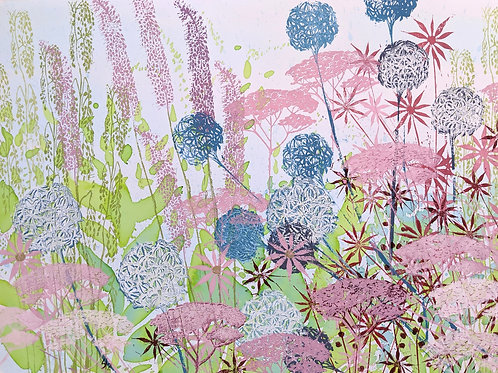 Spring border A2 limited edition print