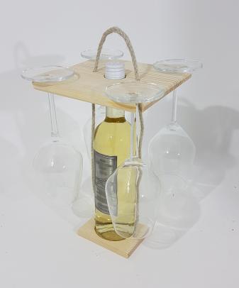 Poharas Bortartó 4 pohárral