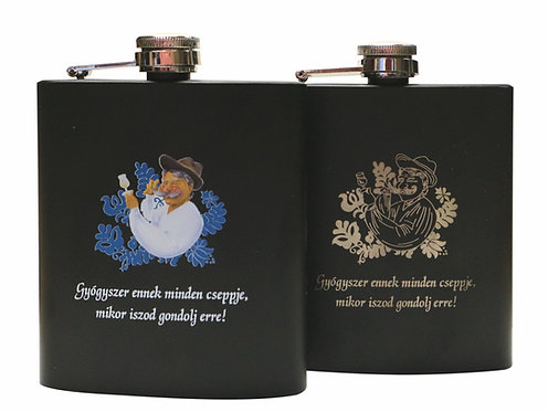 Fekete fém flaska