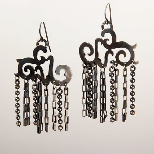 Chinese Chain Earrings