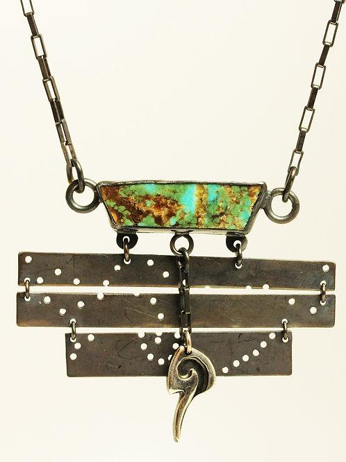 Turquoise Slab Totem Necklace