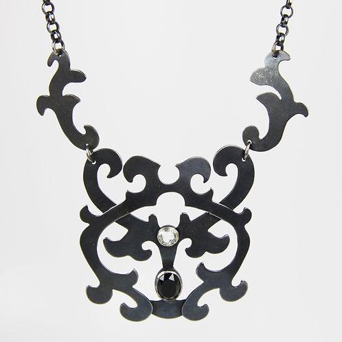Blackmoor Necklace white sapphire black onyx