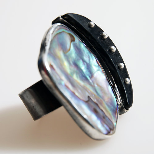 Mother-of-Pearl and EbonyRing
