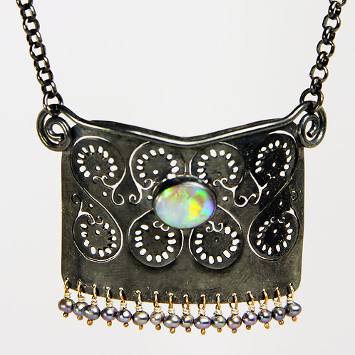 Pierced with Opal Necklace