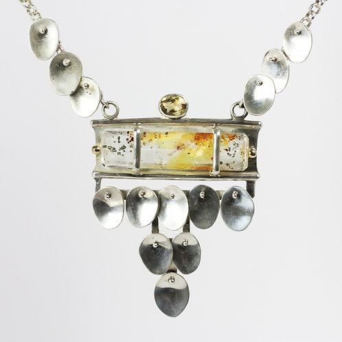 Rutile Pebble Necklace