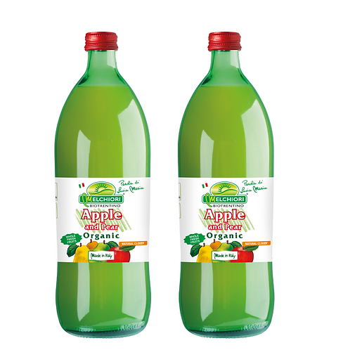 Melchiori Organic Apple & Pear Juice 梅基利蘋果園 有機冷榨啤梨蘋果汁 (750ml/1箱12枝)