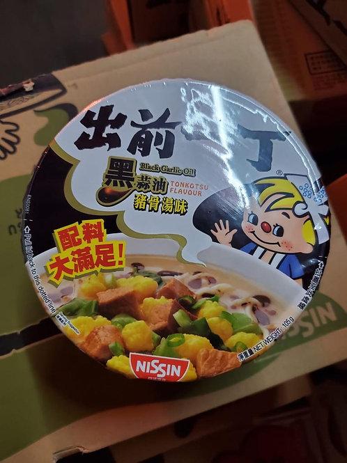 黑蒜油豬骨湯味出前一丁 (碗麵) (12碗)
