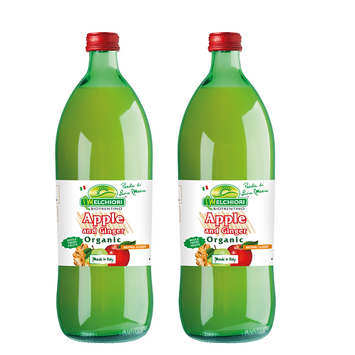Melchiori Organic Apple & Ginger Juice 梅基利蘋果園 有機冷榨生薑蘋果汁  (750ml/1箱12枝)