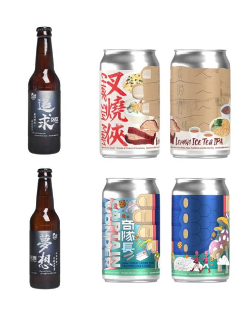 手工啤酒 Brew in HK Package (1pack4款)
