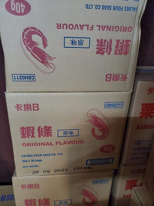 卡樂B原味蝦條 (40g/1箱30包)