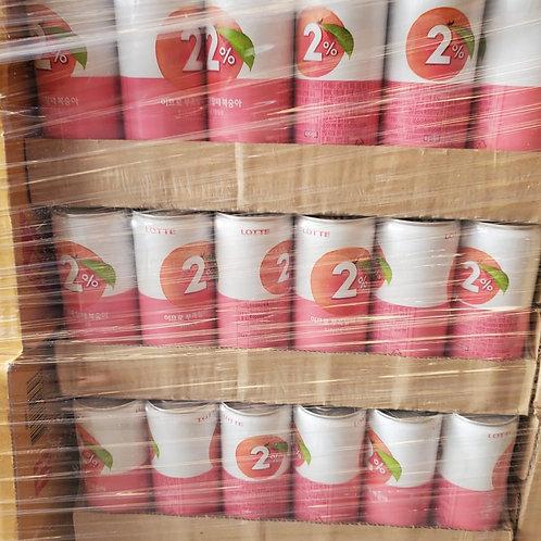 韓國 Lotte 2% 蜜桃水 (240ml/1箱30罐)
