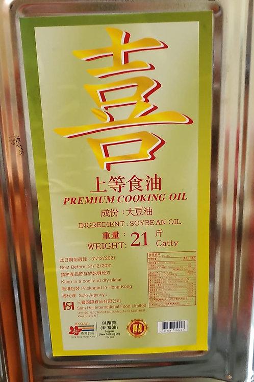 喜字大桶豆油 (21斤)