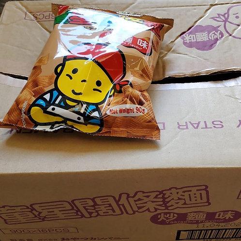 童星闊條麵 (炒麵味) (90g/1箱16包)