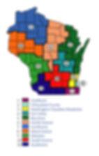 Wisconsin WDA map