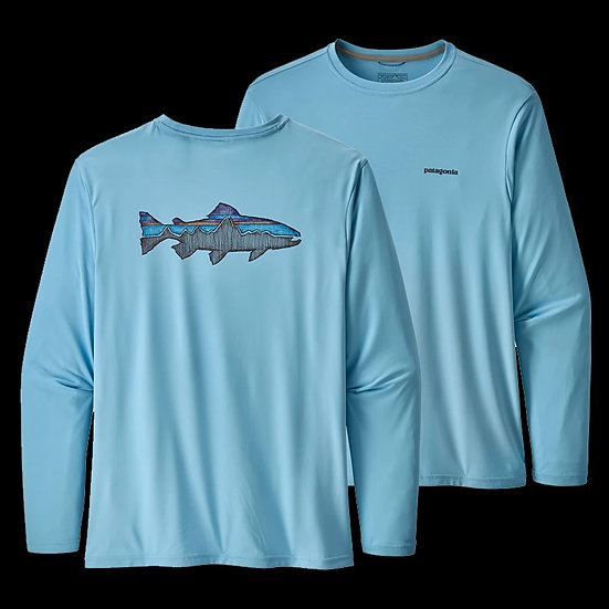 Patagonia Capilene Graphic Shirt - Trout in Break Up Blue