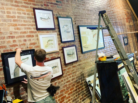 """Gyotaku Fish Art Exhibit with Local Artist, """"The Mighty Bluegill"""""""
