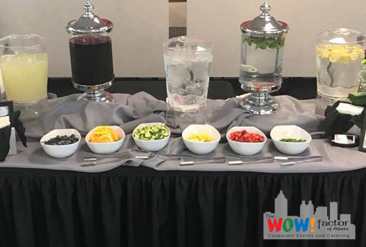 The WOW! Factor of Atlanta Infused Water Station