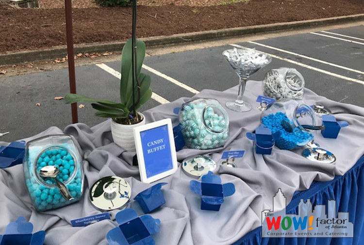 Wow Factor All Blue Candy Buffet