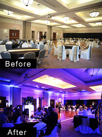 Before & After Uplighting With Magic Moments