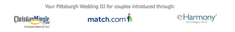 Pittsburgh Wedding DJ for Match.com, eharmony & Christianmingle.com