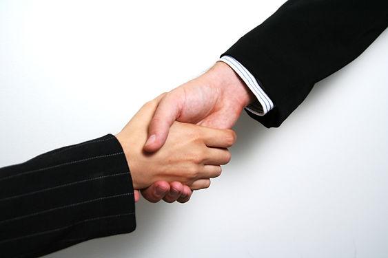 Poignée de main professionnelle