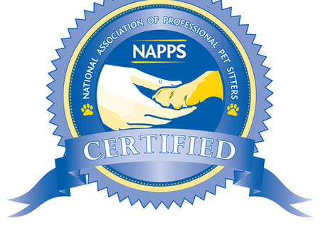 NAPPS CERTIFIED PROFESSIONAL PET SITTER
