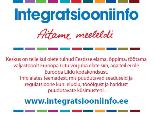 BDA disainis nõustamisteenuseid välisriikidest Eestisse saabujatele