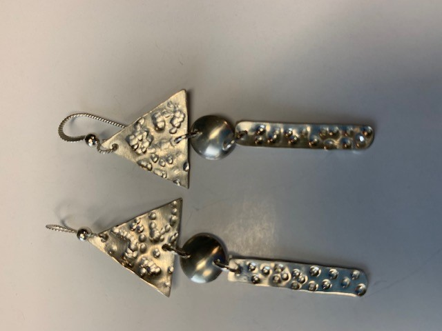 Earrings by Valen Sisters/Joy Dysart