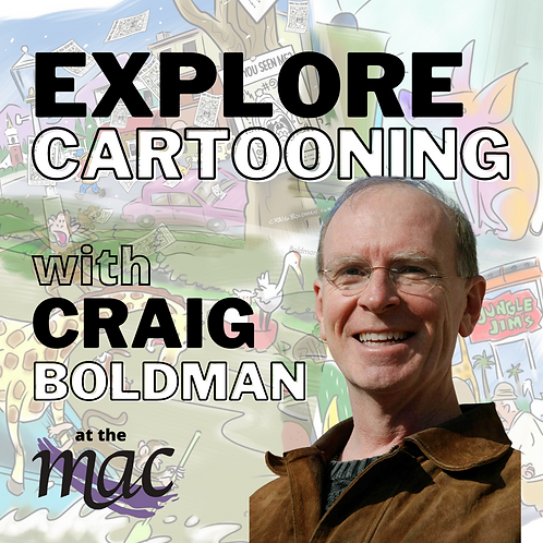 Explore Cartooning Tues. 6:30pm