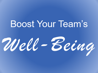 Boost Your Team's Well-Being