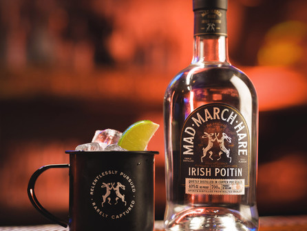 Mad March Hare Poitín - New Design,and Mule Kit with Poachers Irish Mixers and Off the Cuffe Bitters