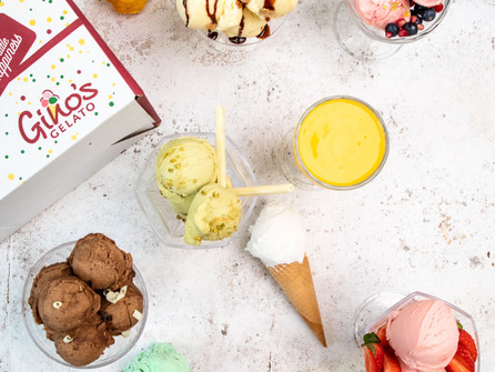 Gino's Gelato Gift Boxes at Home