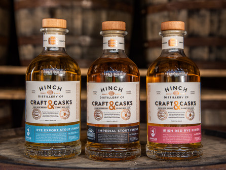Hinch Distillery launch Whiskey range finished in Craft Beer Casks
