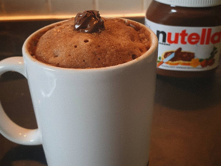 Nutella cake, in a cup