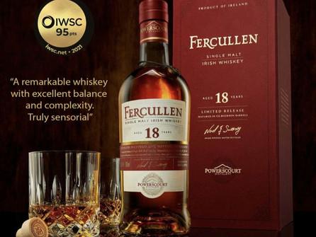 Fercullen Irish Whiskey wins Gold again at International Wine & Spirits Competition