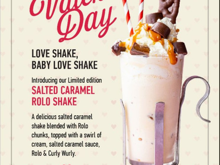 Eddie Rocket's Salted Caramel Rolo Shake