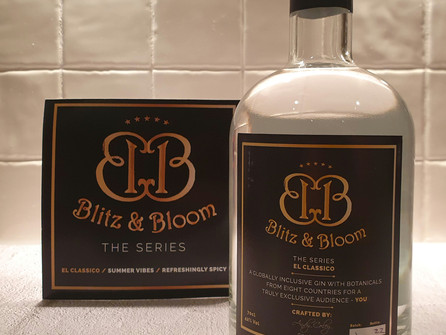 Blitz & Bloom Gin, a Globally Inclusive Gin with Botanicals from Eight Countries