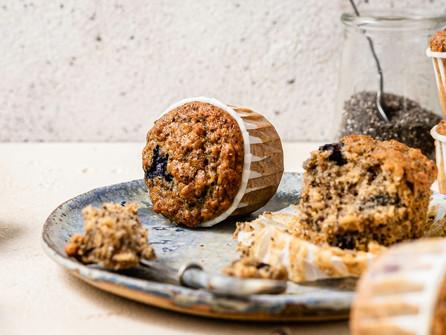 Blueberry Chia Oat Muffins Recipe