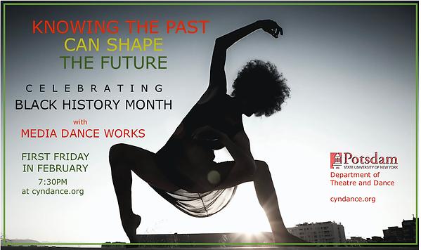 Poster: Media Dance:Black History Month.