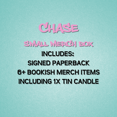 Chase - Small Merch Box with signed paperback + 1 candle