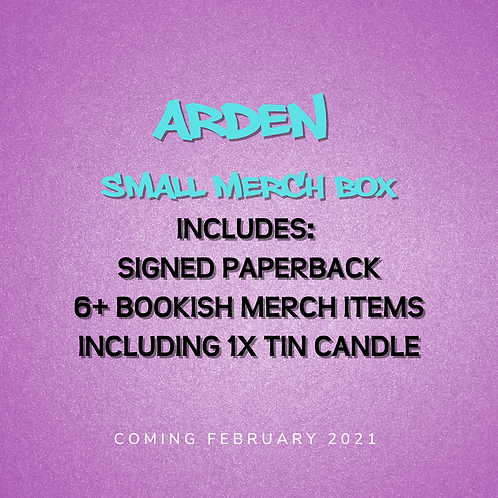 **PREORDER** Arden - Small Merch Box with signed paperback + 1 candle