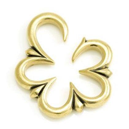 Brass Weight Flower Ear Stretcher