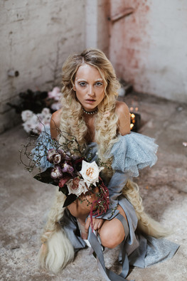Makeup by Sarah Marie Makeup. Photography by Jimmy Rapper. Florals by Fleur and Threads.