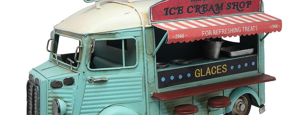 Retro metal isbil med mange flotte detaljer