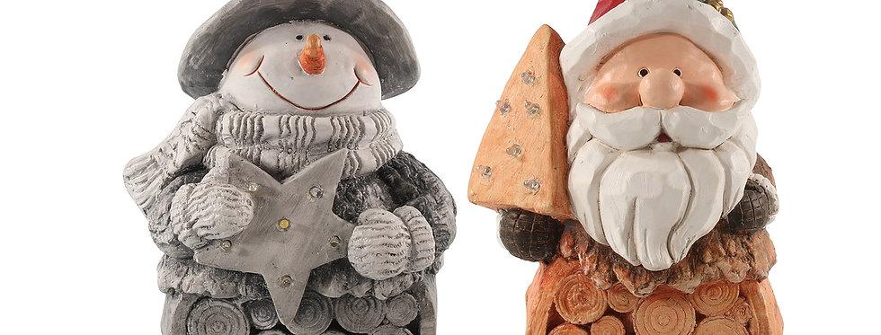Snemand eller julemand sten figur med led